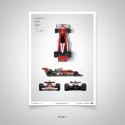 James Hunt M23 Limited Edition Poster